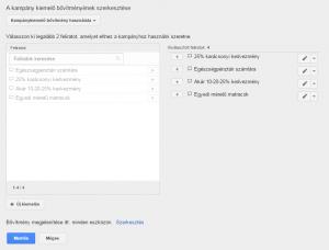 Google AdWords - Kiemelő bővítmény