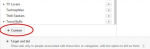Google Display Network - Egyéni érdeklődési szegmens
