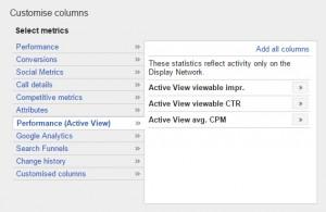 Google Display Network - Aktív megtekintés CPM