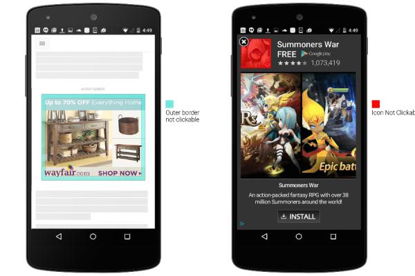 A Google nehezíti a mobil hirdetésekre való kattintást