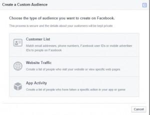 Facebook: Egyéni közönségek létrehozása (Custom audiences)