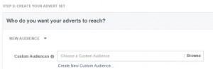 Facebook - Elmentett célzások (Saved audiences)