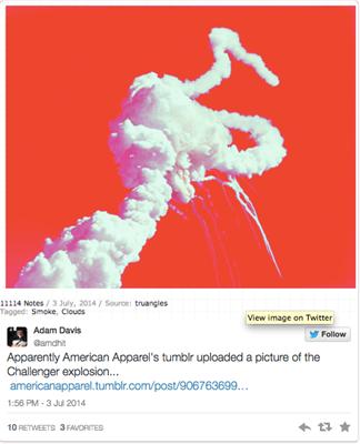 Közösségi média bakik - 2014: American Apparel