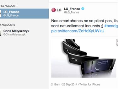 Közösségi média bakik - 2014: LG France