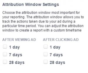 Facebook analitika: Konverziós időtartam módosítása