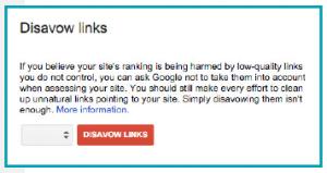 Google Disavow szolgáltatásával visszautasíthatjuk a nemkívánatos linkeket