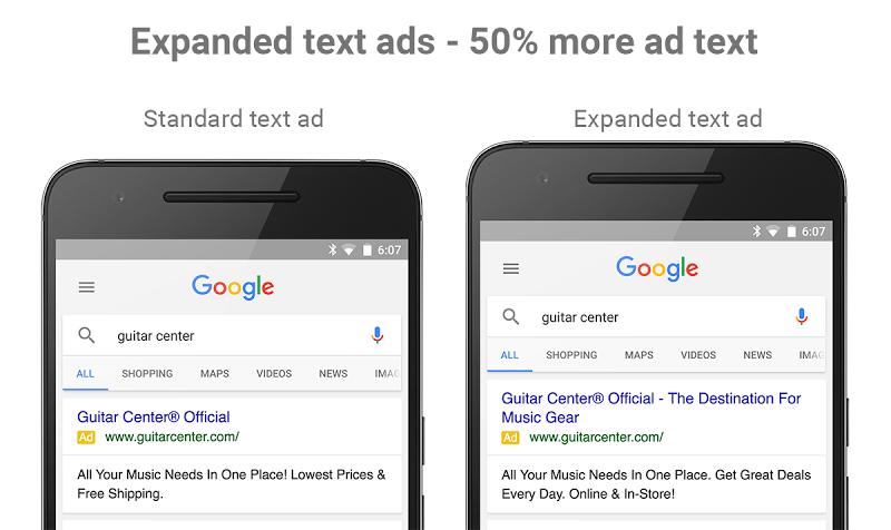 AdWords - Kibővített szöveges hirdetések (Expanded text ads)