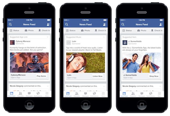 facebook mobil hirdetők