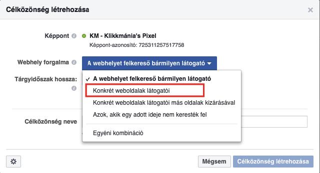 Facebook Pixel: Retargeting szegmentáció