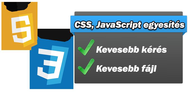 A CSS és JavaScript kódok egyesítése sokat javíthat