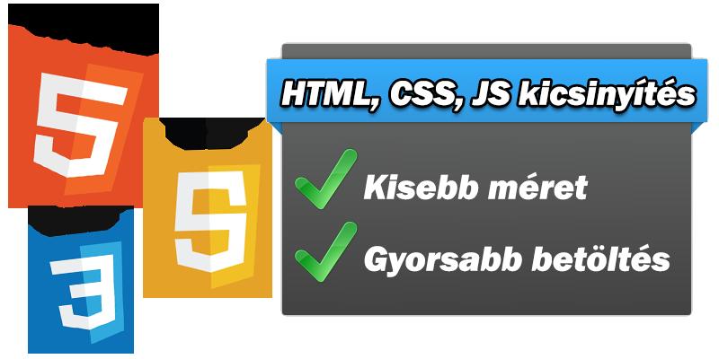 HTML, CSS és JavaScript tömörítése