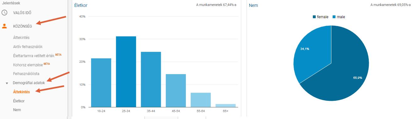 Közönség> Demográfiai adatok> Áttekintés