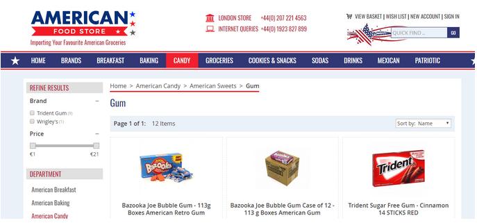 American-foodstore-weboldal