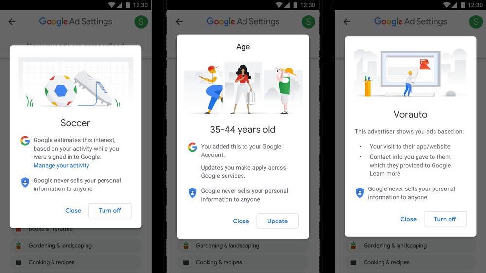 google-adatok