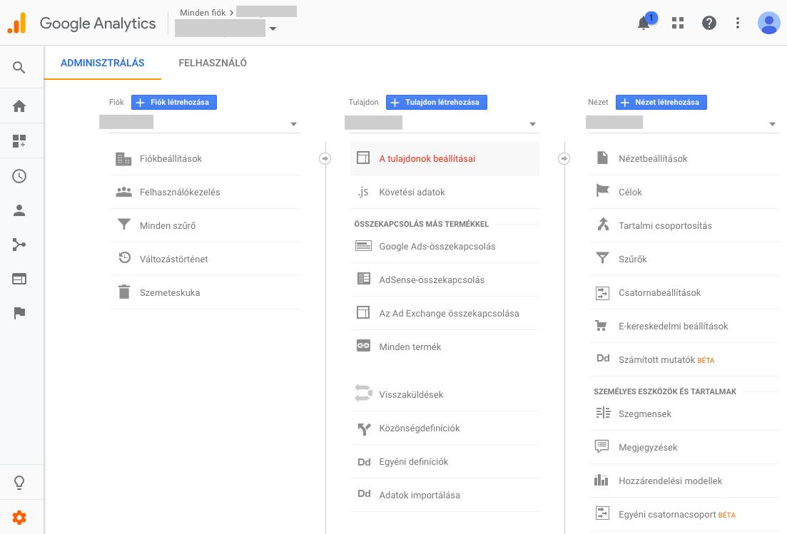 GoogleAnalytics-Tulajdonok-beallitasai