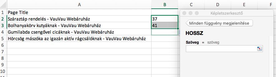HOssz-Excel-fuggveny