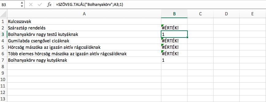 Szoveg.talal-Excel-fuggveny