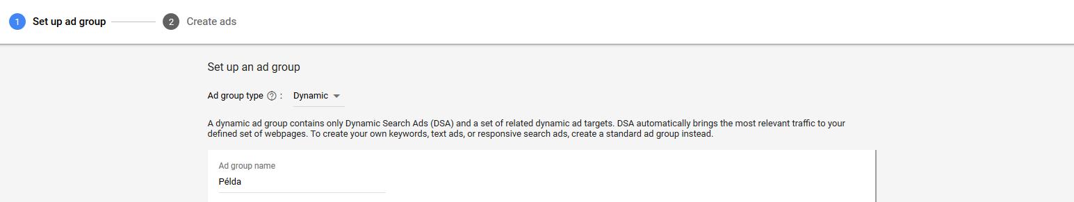 10. DSA hirdetéscsoportok